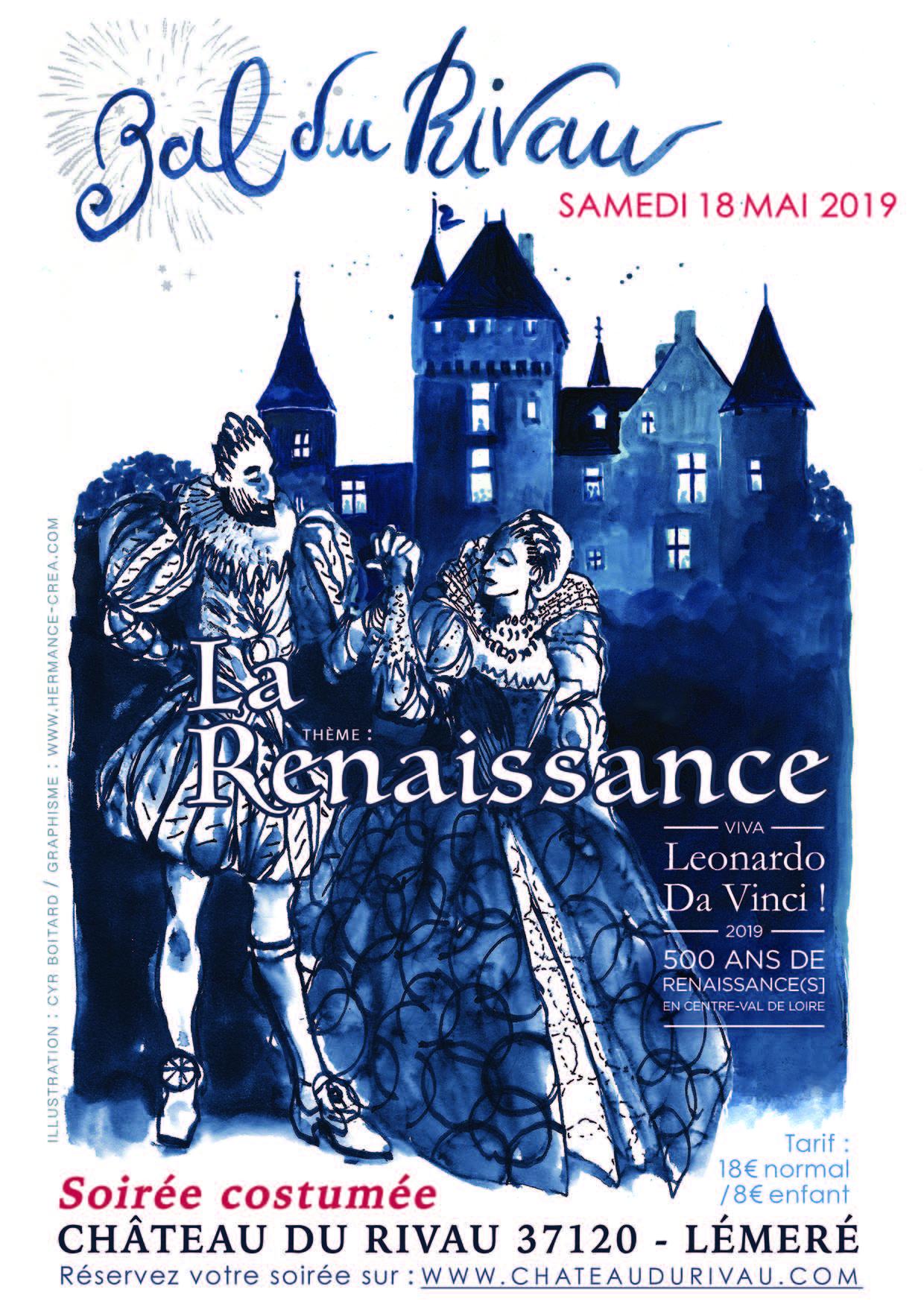 Affiche du bal du Rivau 2019